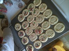 Jayda and I baked cookies. Love our baking time.