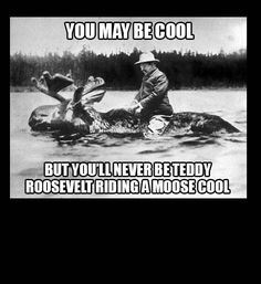 Truth. You may be cool but you'll never be Teddy Roosevelt riding a moose cool.