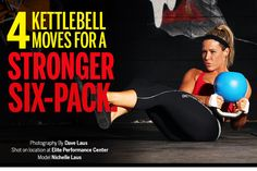 Kettlebell Moves with Nichelle Laus. I feel like I'd hit myself in the head with the KB... but I'll try it!