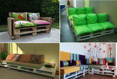 Reciclaje...pallets convertidos sofa