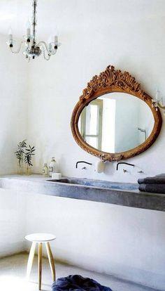 oval antique mirror!