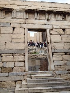 Greek marble gate