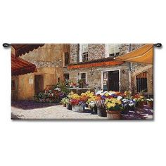 """The Flower Shop 53"""" Wide Wall Tapestry"""