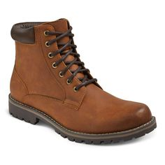 Men's Maddox Combat Boots Brown - Mossimo Supply Co., Size: 9
