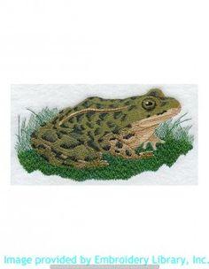 Stickmotiv Stickbild Aufnäher Stickerei Emblem Frosch  Frosch /  Stickerei Leopard Frog (A1082)