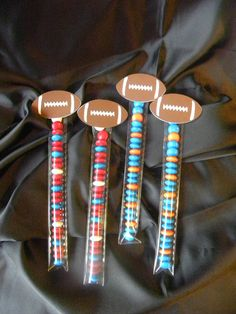 Superbowl Team Colors Game Day Party Favors You Choose Colors for your Team on Etsy, $1.40