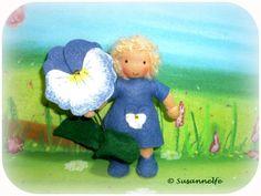 Stiefmütterchen Blumenkinder Jahreszeitentisch von Susannelfes Blumenkinder  auf DaWanda.com