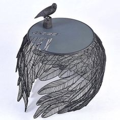 Apiwat Chitapanya welds stainless steel feathers together to form the feather table!  Follow @designdiamond1 for more    __    #table #tables #furniture #furniturejepara #furnituredesign #product #products #productdesign #design #designs #designer #design