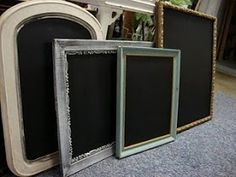 DIY chalk board buy a picture frame or a mirror paint glass or mirror with chalk paint coats, let dry and your are ready to write with chalk! Framed Chalkboard, Chalkboard Drawings, Chalkboard Lettering, Nautical Wall Decor, Diy Frame, Painting For Kids, Organizer, Fun Crafts, Diy Home Decor