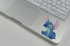 Stitch ----Macbook Decal Macbook Sticker Mac Decal Apple Vinyl Decal for Macbook Pro / Macbook Air via Etsy