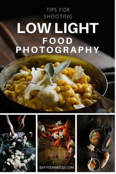 Tips for shooting DIY low light food photography. Ever wondered how to get moody, dramatic images? This post helps you learn how!