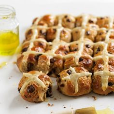 These chocolate and orange hot cross buns are only mini, so you can have more!