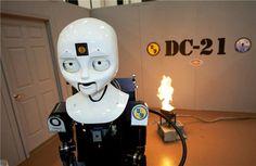 Octavia, the Navy's Firefighting Robot