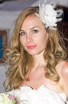 Wedding headpiece #bride
