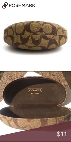 AUTHENTIC COACH SUNGLASSES CASE Coach is a luxury American leather goods company founded in 1941 as a family-run workshop. In a Manhattan loft, six artisans handcrafted a collection of leather goods using skills handed down from generation to generation. Coach is known for ladies' handbags as well as items such as luggage, briefcases, wallets, sunglasses and other accessories. Coach Accessories