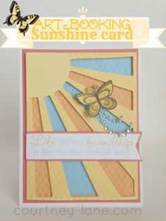 Cricut ARTBOOKING Sunshine card.