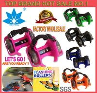 Top Brand Fashion Sporting Pulley Lighted Flashing Wheels Heel Skate Rollers Skates Wheeled Shoes Flashing Roller Skate Scooters