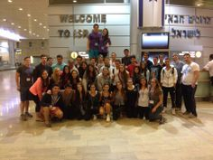 Arriving in Israel at the start of the best 10 days of their lives! #Sachlav #Birthright #Taglit www.israelonthehouse.com