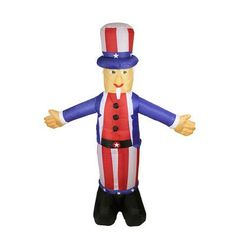 Northlight Inflatable Standing Uncle Sam Decoration