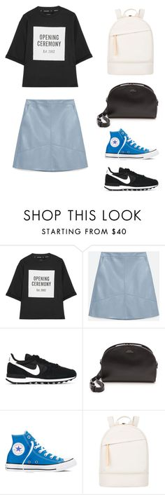 """Untitled #44"" by wooniverse on Polyvore featuring Opening Ceremony, Zara, NIKE, A.P.C., Converse and Want Les Essentiels de la Vie"