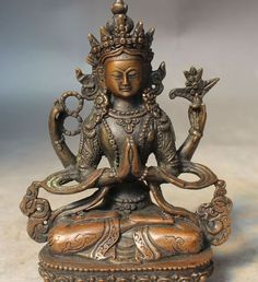 Bronze Tibetan Buddha - China - 20th Century