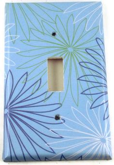 Light Switch Cover Wall Decor Switch Plate  Switchplate  in  Blue Bliss (294S)