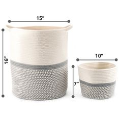 Blanket Basket, Toy Basket, Toy Storage Baskets, Small Storage, Cotton Rope, Woven Cotton, Round Basket, Large Blankets, Laundry Hamper