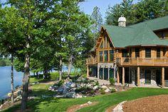 Michigan log home exterior