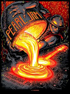 Munk One Pearl Jam Pittsburgh Poster On Sale Details