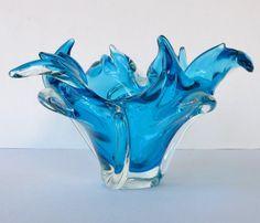 Vintage Blue Chalet Glass