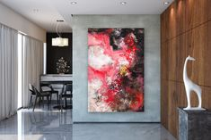 Items similar to Large Modern Wall Art Painting,Large Abstract Painting on Canvas,texture painting,gold canvas painting,gallery wall art on Etsy Painting Bathroom Walls, Bedroom Paintings, Large Abstract Wall Art, Abstract Canvas, Abstract Paintings, Canvas Art, Oversized Wall Art, Texture Painting, Texture Art
