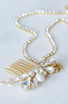 Gatsby Crystal Chain Bridal Hairpiece