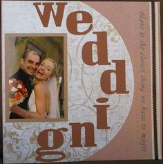 This is LO of my cousin Joanna's wedding. She married in November 2006 in Phoenix AZ, and it was spectacular Fall wedding. This is one of the first scrapbook pages I have done and due to some lack of supplies (rub-ons, flowers, etc) the LO came out very s Scrapbook Pages, Scrapbooking Ideas, Wedding Scrapbook, Wedding Crafts, Wedding Album, Creative Crafts, Fall Wedding, Family Photos, Card Making
