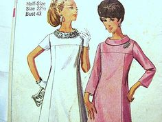 Vintage Womens 1960s Dress Pattern by PatternsFromThePast on Etsy, $7.50