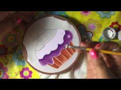 Pintura En Tela Mandil De Botella Con Cony - YouTube