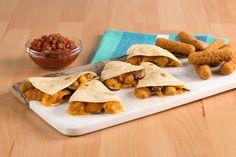 Empty plates guaranteed. Mozzarella, Salsa and Mushroom Quesadillas. #FarmRich