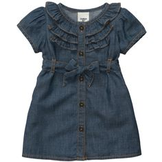 Short-Sleeve Chambray Dress Set