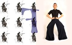 Loving the Japanese hakama pants, bringing a taste of the samurai into my wardrobe. Finding a new way to wear my old collection. Outfit ~ Moonface by Valentine Vu  Photographer ~ Aay Chua