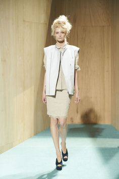 Acne Resort 2012; I really like how they did the prim suit with the edgy vest