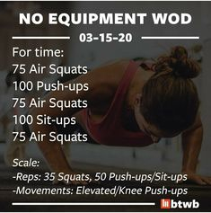 Wods Crossfit, Crossfit Workouts At Home, Wod Workout, Calisthenics Workout, Body Workout At Home, Insanity Workout, Crossfit Routines, Training Workouts, Circuit Training