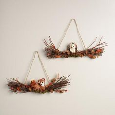 One of my favorite discoveries at WorldMarket.com: Fox and Hedgehog Swag Wreaths, Set 2