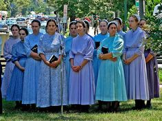 Mennonite Women in Dupont Circle by Ronnie The Mennonites are a Protestant  group based around the church communities of the Christian Anabaptist ...