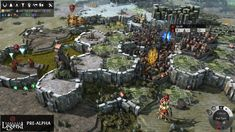 Isometric strategy game Endless Legend with hexagonal voxel-type landscape Walking In The Jungle, Cheat Engine, Endless, Game Google, Game Concept, Strategy Games, Fantasy World, Online Games, Games