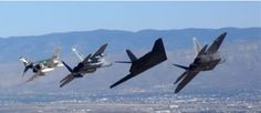 F-4, F-15, F-117 & F-22, the only air show where the F-117 and F -22 flew together, Holloman AFB, NM