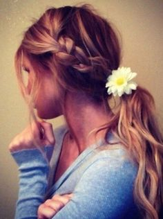 Braid with Ponytail Hairstyle for Summer | 26 Pretty Braided Hairstyle for Summer http://www.jexshop.com/