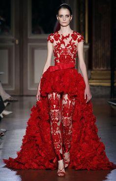 Suzie Bird at Zuhair Murad Haute Couture F/W 2011-12.