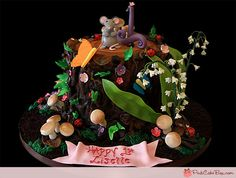 1st Birthday Tree Stump Cake/ Another idea soo cute, But I dont think Id want to eat it , it looks so well put together.
