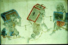 :::: PINTEREST,COM christiancross :::: Uighur Manichaean Miniatures Medieval Paintings, Animal Fashion, Demons, Archaeology, Persian, Mystic, Artworks, Religion, Asia