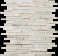 """Emser Tile Lucente 13"""" x 13"""" Stone and Glass Linear Mosaic Blend in Ambrato"""