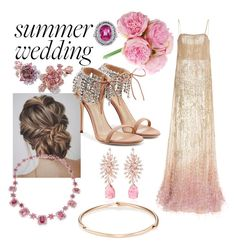 """Blushing Bride"" by delana-katrice-jarrett ❤ liked on Polyvore featuring Giuseppe Zanotti, Anabela Chan, Hueb and VRAM"